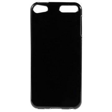 iPod Touch 6G Glossy TPU-Suojakuori Musta