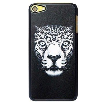 iPod Touch 6G Kova Suojakuori Leopard Musta