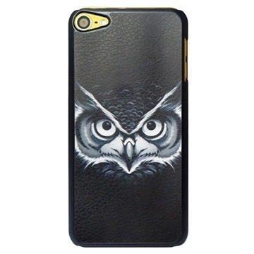 iPod Touch 6G Kova Suojakuori Pöllö Musta