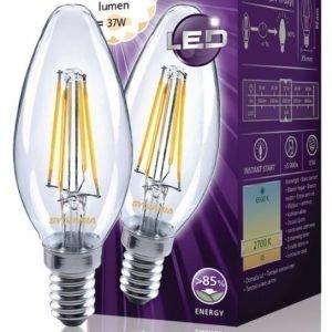 kynttilä 420LM 827 LED-lamppu hehkulanka E14 4W