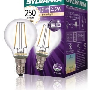 mainos- ja koristelamppu 250LM 827 LED-lamppu hehkulanka E14 2 5W