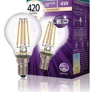 mainos- ja koristelamppu 420LM 827 LED-lamppu hehkulanka E14 4W