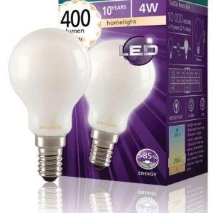 mainos- ja koristelamppu Mat 400LM 827 LED-lamppu hehkulanka E14 4W
