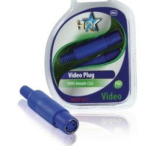 video liitin s-video naaras (2x)