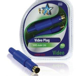 video liitin s-video uros (2x)